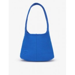 PANGAIA Women Brand-embossed recycled and organic cotton-blend shoulder bag 5ZE2L8VX