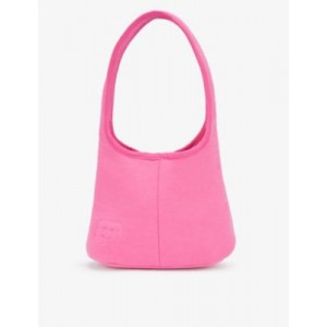 PANGAIA Women Brand-embossed recycled and organic cotton-blend shoulder bag high quality NWULJROW
