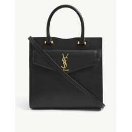 SAINT LAURENT Uptown small leather tote bag the best BSR7G6JD