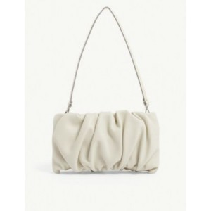 STAUD Bean ruched leather clutch Best JT75IB6F