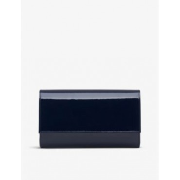 LK BENNETT Womens Dayana patent leather clutch bag Selling Well 1SBH4HIS
