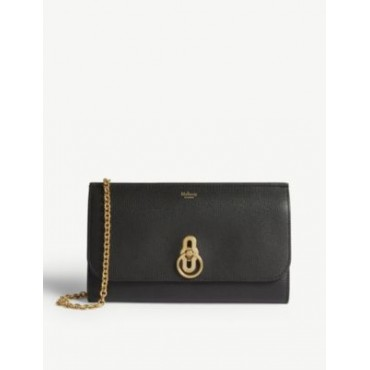 MULBERRY Amberley grained-leather wallet-on-chain CDKLKX6O