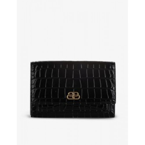 RESELLFRIDGES Pre-loved Burberry croc-embossed small leather bag EQEV7ARY