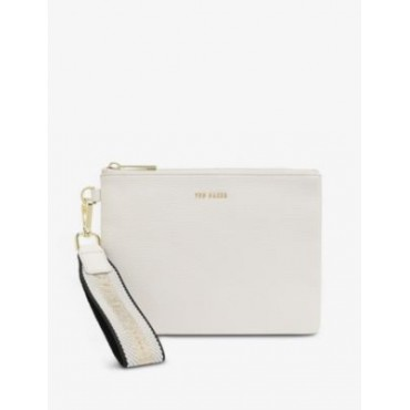 TED BAKER Women Norrin web-striped leather pouch 7EPBH2TC