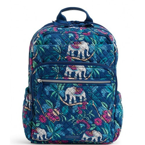 Iconic XL Campus Quilted Backpack Kerala Elephants 20073358