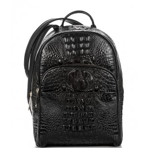 Melbourne Collection Dartmouth Crocodile-Embossed Backpack Black 04543118