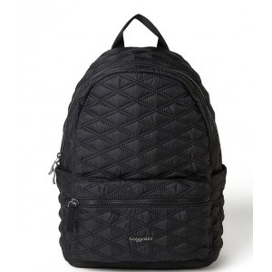 Quilted Nylon Backpack Black 20155456