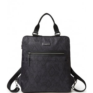 Women City Lights Collection Jessica Python Convertible Tote Backpack Dark Grey Python 20068095