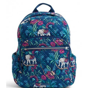 Women Iconic Campus Quilted Backpack Kerala Elephants 20073354