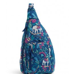 Women Iconic Sling Quilted Backpack Kerala Elephants 20073349