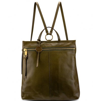 Women Maggie Smooth Leather Backpack Olive 20119395