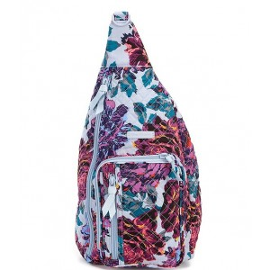 Womens Iconic Sling Backpack Neon Blooms 05807205