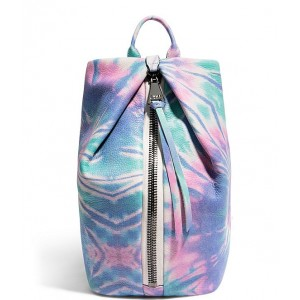 Womens Tamitha Tie Dye Leather Printed Backpack Spiral Tie Dye 20142555