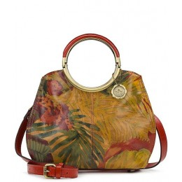 Women Tropical Dreams Collection Aria Leather Ring Handles Satchel Bag Tropical Dreams 20157862